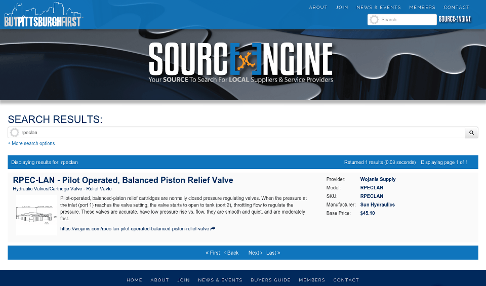 Buy Pittsburgh First SOURCE Engine